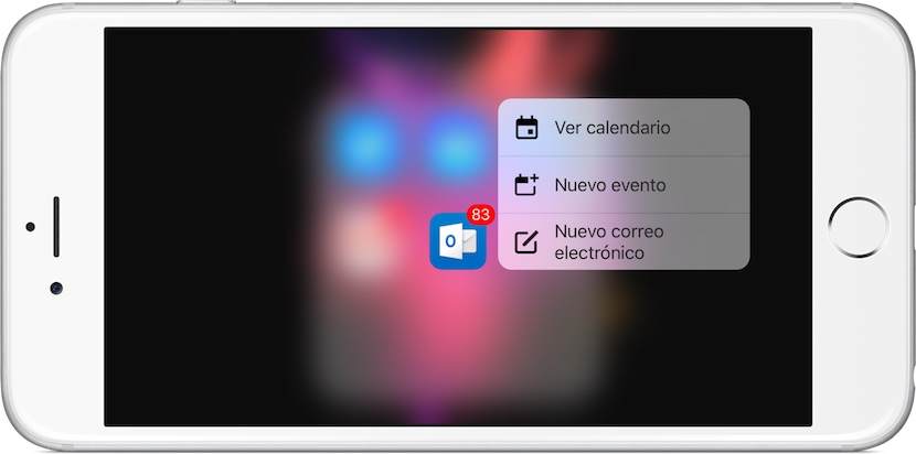 outlook-actualización-iphone-3d-touch