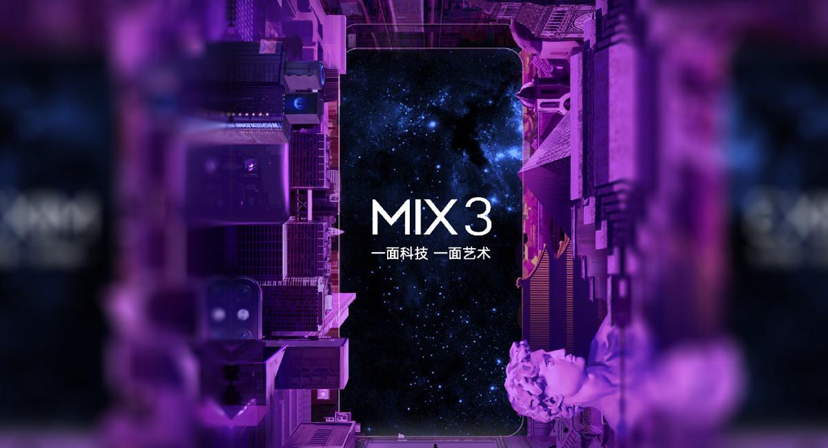 Xiaomi presentará el Mi Mix 3 el 25 de octubre