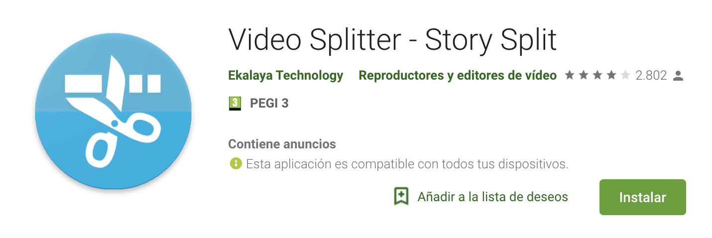 Video Splitter historias instagram