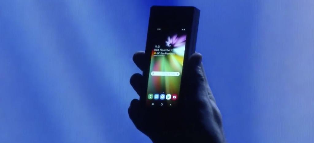 Samsung plegable presentacion