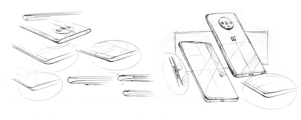 Esbozo diseño OnePlus 7T